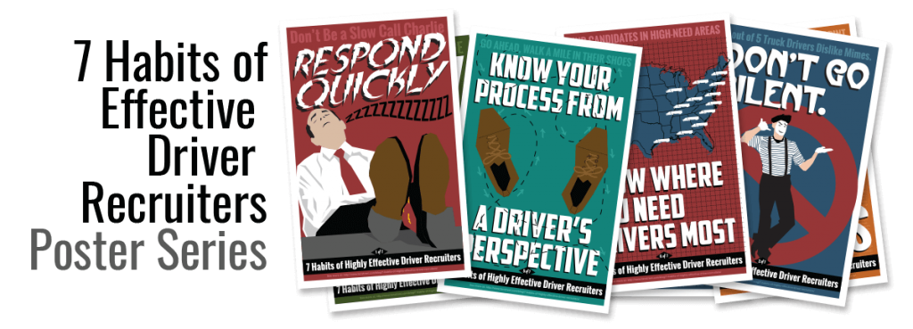 7 habits of effective driver recruiter poster series