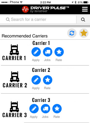 Pulse brings Carrier Recommendations