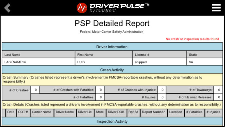 PSP Reports Detailed