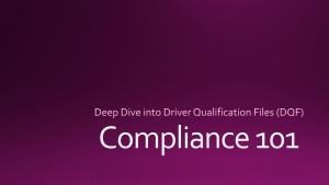 Deep Dive DQF